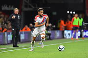 Andros Townsend (10) of Crystal Palace on the attack during the Premier League match between Bournemouth and Crystal Palace at the Vitality Stadium, Bournemouth, England on 1 October 2018.