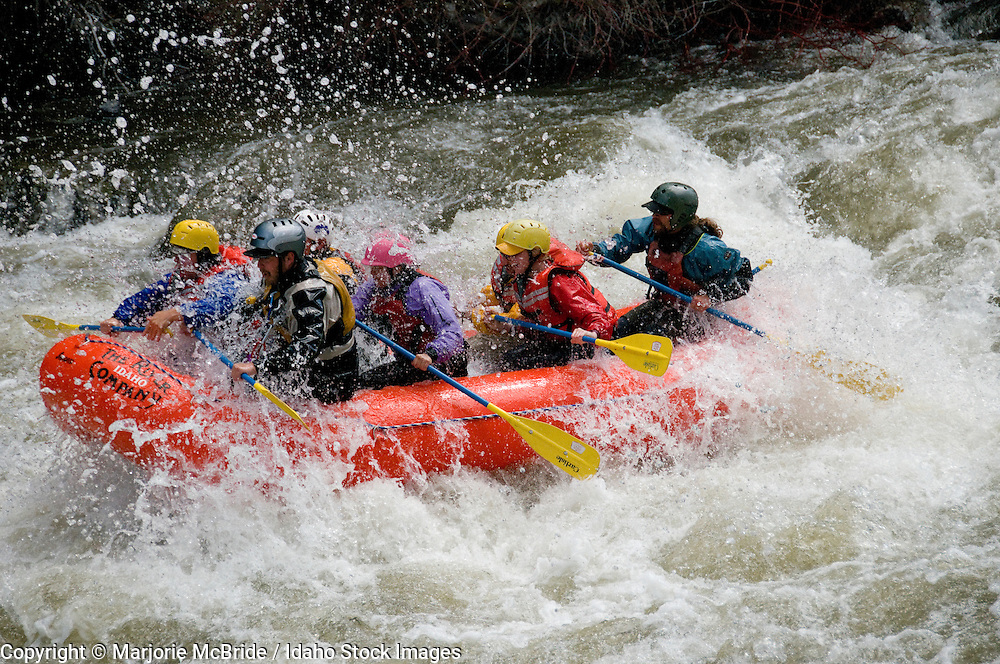 White water rafting the Salmon River near Stanley, Idaho.