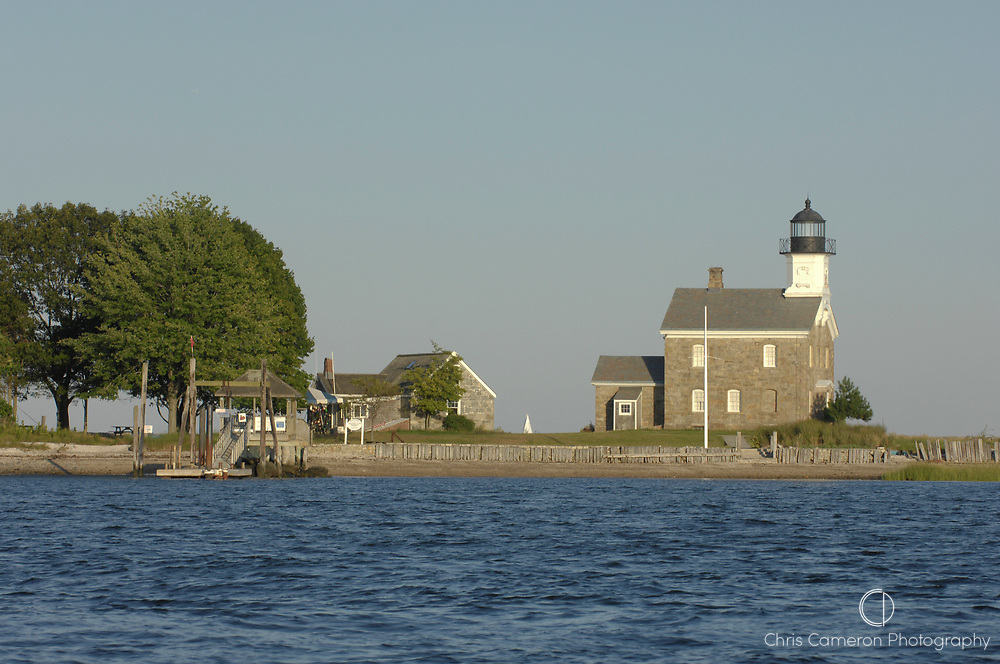 Sheffield Island Lighthouse. Long Island Sound, Connecticut. USA