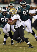 New Orleans Saints running back Khiry Robinson (29) runs the ball during the NFL NFC Wild Card football game against the Philadelphia Eagles on Saturday, Jan. 4, 2014 in Philadelphia. The Saints won the game 26-24. ©Paul Anthony Spinelli