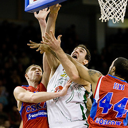 20100107: Basketball - Euroleague, KK Union Olimpija vs CSKA