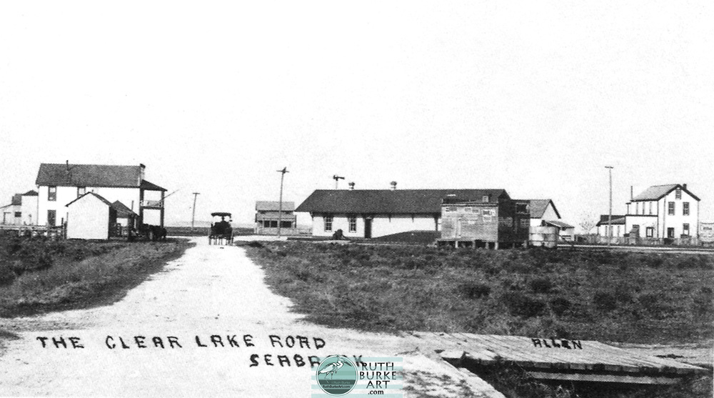 """Historic maps and photos of Seabrook, Texas as published in the book titled """"Seabrook"""" by Ruth Burke and Don Holbrook."""