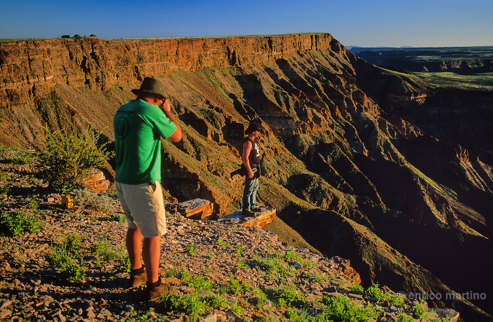 Fish River Canyon, which has been gouging the canyon for thousands of years, is one of the biggest of the world,160 km long and 27 wide. Nowhere in Africa exists something like this.