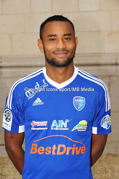 Loic DAMOUR - 26.09.2015 - Photo officielle Bourg en Bresse Peronnas - Ligue 2<br /> Photo : Jean Paul Thomas / Icon Sport