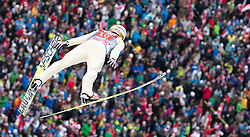 04.01.2015, Bergisel Schanze, Innsbruck, AUT, FIS Ski Sprung Weltcup, 63. Vierschanzentournee, Innsbruck, 1. Wertungssprung, im Bild Piotr Zyla (POL) // Piotr Zyla of Poland soars trought the air during his first competition jump for the 63rd Four Hills Tournament of FIS Ski Jumping World Cup at the Bergisel Schanze in Innsbruck, Austria on 2015/01/04. EXPA Pictures © 2015, PhotoCredit: EXPA/ JFK