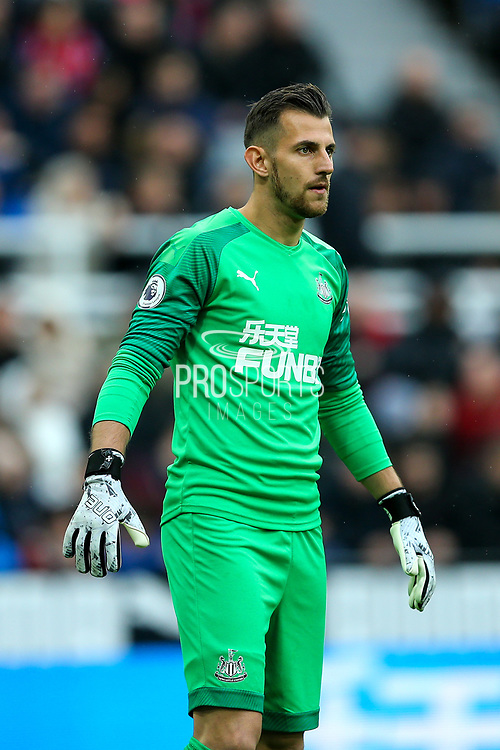 Martin Dubravka (#1) of Newcastle United during the Premier League match between Newcastle United and Manchester United at St. James's Park, Newcastle, England on 6 October 2019.