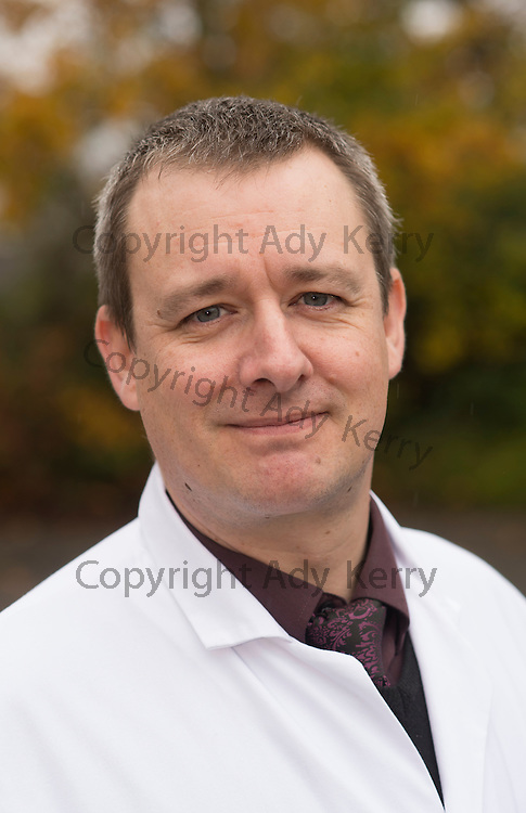 South East Water's Richard Brown - Laboratory Manager in the new premises, Aldershot, Hampshire, 17th November 2014.