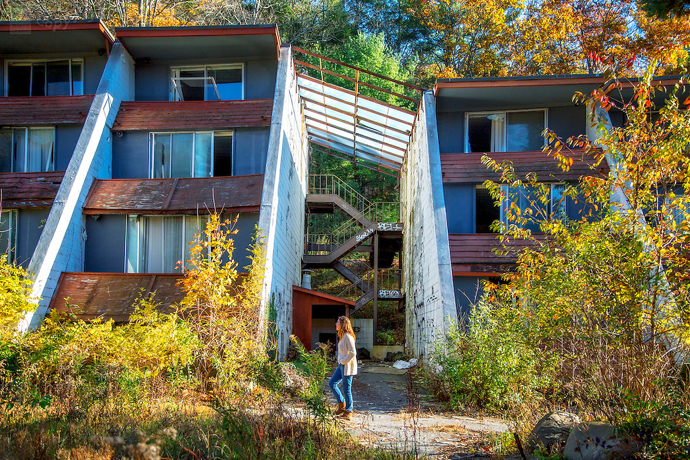 Abandoned Penn Hills Resort in central Poconos area of Pennsylvania