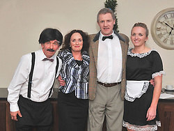 Members of St Patrick's Drama Group pictured at the 'Secret Supper' where they performed a version of Faulty Towers as part of the Westport Food Festival over the weekend, Seamus McNally, Marian O'Malley Ciaran Mc Suibhne and Rosaleen Heraty