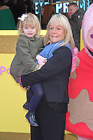 Linda Robson & Lila, Peppa Pig: The Golden Boots - UK Film Premiere, Odeon Leicester Square, London UK, 01 February 2015, Photo By Brett D. Cove