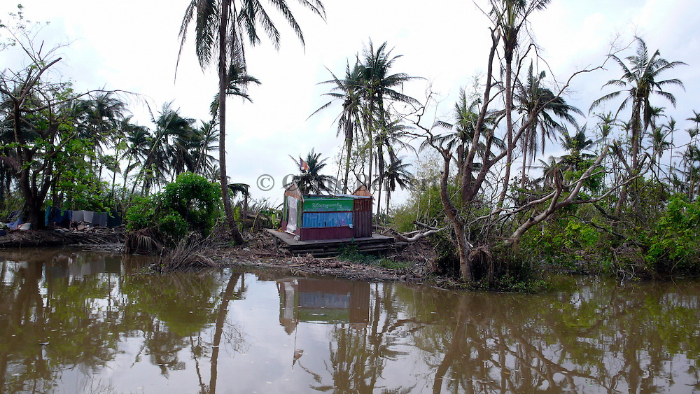 Official building destroyed by Cyclone Nargis in the Irrawaddy Delta.