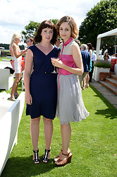 Left to right, ALEXANDRA ROACH and TUPPENCE MIDDLETON at the Audi International Polo at Guards Polo Windsor Great Park, Egham, Surrey on 28th July 2013.