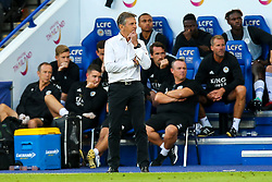 Leicester City manager Claude Puel - Mandatory by-line: Robbie Stephenson/JMP - 01/08/2018 - FOOTBALL - King Power Stadium - Leicester, England - Leicester City v Valencia - Pre-season friendly