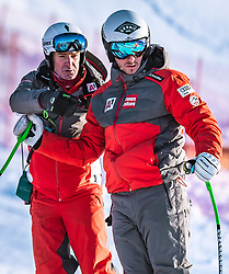 06.02.2019, Aare, SWE, FIS Weltmeisterschaften Ski Alpin, SuperG, Herren, Streckenbesichtigung, im Bild v.l.: Andreas Puelacher (Sportlicher Leiter ÖSV Ski Alpin Herren), Daniel Danklmaier (AUT) // f.l.: Andreas Puelacher Austrian Ski Association head Coach alpine Men's Daniel Danklmaier of Austria during the course inspection for the men's Super-G of FIS ski alpine world cup in Aare, Sweden on 2019/02/06. EXPA Pictures © 2019, PhotoCredit: EXPA/ Dominik Angerer