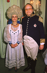COUNT & COUNTESS ANDREI TOLSTOY-MILOSLAVSKY at a ball in London on 9th February 1999.MOG 6