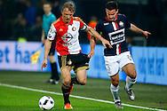 17-12-2015 VOETBAL: KNVB BEKER: FEYENOORD- WILLEM II: ROTTERDAM<br /> <br /> Dirk Kuyt van Feyenoord in duel met Guus Joppen van Willem II <br /> <br /> Foto: Geert van Erven