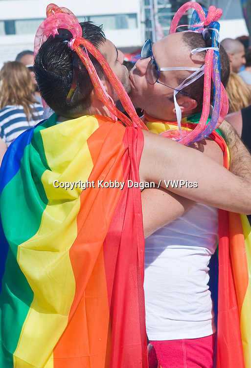 participants at the annual Tel Aviv Gay pride parade