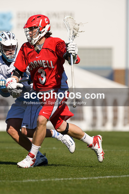 02 March 2008: Cornell Big Red midfielder Tom  Corbolotti (3) during a 13-8 loss to the North Carolina Tar Heels on Fetzer Field in Chapel Hill, NC.