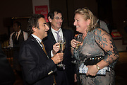 ANTHONY SYMINGTON; DAVID SOLA; MARIANNE ASTOR, Action Against Cancer 'A Voyage of Discovery' fundraising dinner at the Science Museum on Wednesday 14 October 2015.