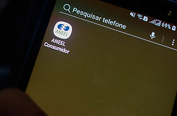 November 19, 2018 - SãO Paulo, Brazil - SÃO PAULO, SP - 19.11.2018: ANEEL LANÇA APP PARA ENTENDER CONTA DE LUZ - The National Electric Energy Agency (Aneel) launches an application for mobile devices to help the consumer understand the calculation of electricity bill rates, with the aim of the consumer to have more transparency on the charging of energy tariffs. (Credit Image: © Aloisio Mauricio/Fotoarena via ZUMA Press)