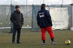 ALLENAMENTO SPAL 24-01-2012: SERGIO GESSI E STEFANO VECCHI PARLANO