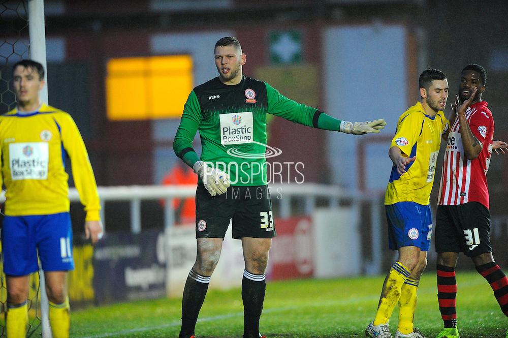 Accrington Stanley's Jason Mooney during the Sky Bet League 2 match between Exeter City and Accrington Stanley at St James' Park, Exeter, England on 23 January 2016. Photo by Graham Hunt.