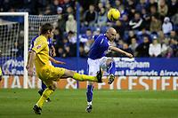 Photo: Pete Lorence.<br />Leicester City v Preston North End. Coca Cola Championship. 18/11/2006.<br />Danny Tiatto sends the ball up the field.