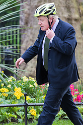 Downing Street, London, April 19th 2016. Mayor of London and Cabinet member Boris Johnson arrives at Downing Street for the weekly cabinet meeting.