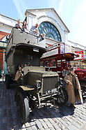 First World War London Battle Buses in Covent Garden