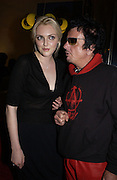 Sophie Dahl and Nicky Haslam. How to lose friends and Alienate people. Toby Young book party hosted by Sophie Dahl and Dylan Jones. Isola. 31 October 2001. © Copyright Photograph by Dafydd Jones 66 Stockwell Park Rd. London SW9 0DA Tel 020 7733 0108 www.dafjones.com