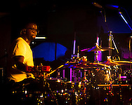 De'Mar Hamilton, drummer of the Plain White T's, in  concert in Yokosuka Japan