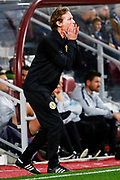 Scotland U21 Head Coach Scot Gemmill during the U21 UEFA EUROPEAN CHAMPIONSHIPS match Scotland vs England at Tynecastle Stadium, Edinburgh, Scotland, Tuesday 16 October 2018.