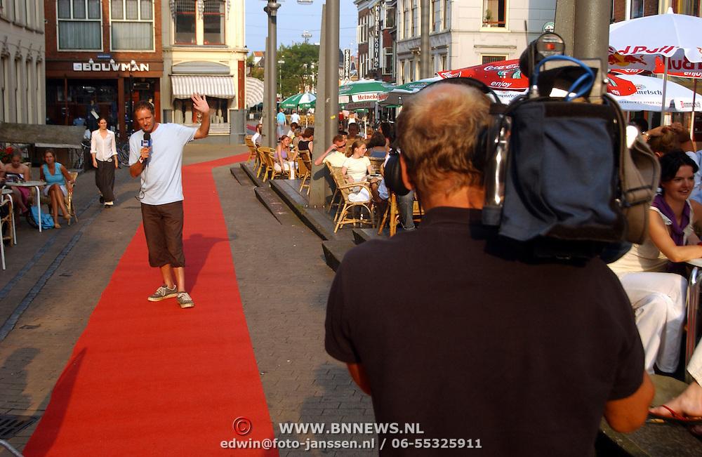 Premiere Friese Kameleonfilm Groningen, opname Piet Paulusma