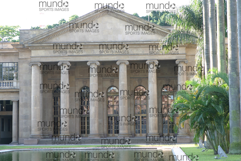 A building in the grounds of the original Itamaraty Palace which housed the Brazilian Foreign ministry until the move to Brasilia. Copyright Sean Burges / Mundo Sport Images, 2005
