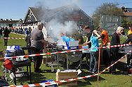 Picture by David Horn/Focus Images Ltd +44 7545 970036.20/04/2013.Barnet FC supporters enjoy a bar-b-q before their last game at Underhill Stadium, London.