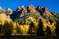 Sievers Mountain during the autumn season.  Elk Mountains, Colorado.  USA