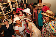 Models gather for a group photo before the Derby Fashion Extravaganza at Brim, in Dayton's Historic Oregon District, Friday, March 1, 2013.  Dresses for the show were all made by Tracy McElfresh of Sew Dayton.