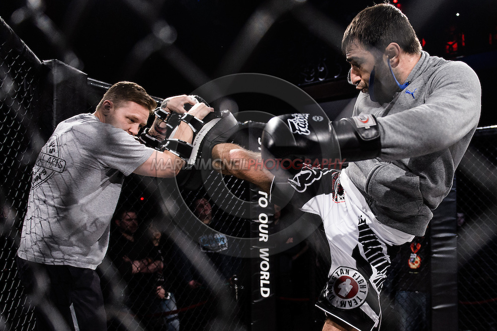 """LONDON, ENGLAND, MARCH 5, 2014: Omari Akhmedov is pictured at the media open work-out sessions for """"UFC Fight Night: Gustafsson vs. Manuwa"""" inside One Embankment in London, England (Martin McNeil for ESPN)"""