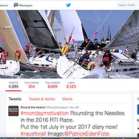 Round the island Race Twitter account.