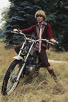 English actress Joanna Lumley in her role as Purdey in the TV adventure series 'The New Avengers', circa 1976.