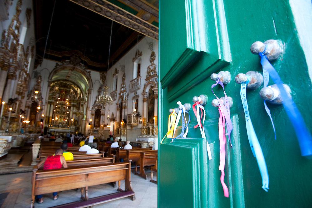 Salvador_BA, Brasil.<br /> <br /> Interior da Igreja do Bonfim em Salvador, Bahia.<br /> <br /> Inside of Bonfim church in Salvador.<br /> <br /> Foto: JOAO MARCOS ROSA / NITRO