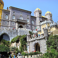 Pena National Palace Entrance Gate in Sintra, Portugal<br />