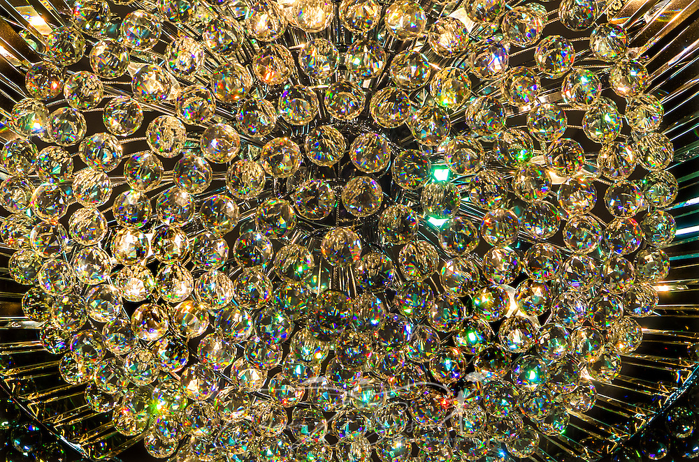 Detail of an ornate, crystal chandelier in the lobby of Comfort Suites hotel in Houston, Texas. The hotel, part of the Choice Hotels chain, is located on McNee Road, conveniently near Reliant Stadium and MD Anderson Cancer Center. (Photo by Carmen K. Sisson/Cloudybright)