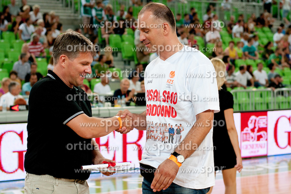 Generation 92 during friendly basketball match between National teams of Slovenia and Croatia of Adecco Ex-Yu Cup 2012 as part of exhibition games 2012, on August 4, 2012, in Arena Stozice, Ljubljana, Slovenia. (Photo by Urban Urbanc / Sportida)