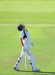 James Fuller of Middlesex walks off after being dismissed.m - Mandatory by-line: Alex Davidson/JMP - 13/07/2016 - CRICKET - Cooper Associates County Ground - Taunton, United Kingdom - Somerset v Middlesex - Day 4 - Specsavers County Championship Division One