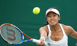 LONDON, ENGLAND - Tuesday, June 21, 2011: Anne Keothavong (GBR) in action during the Ladies' Singles 1st Round on day two of the Wimbledon Lawn Tennis Championships at the All England Lawn Tennis and Croquet Club. (Pic by David Rawcliffe/Propaganda)