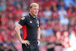Bournemouth manager Eddie Howe looks frustrated - Rogan Thomson/JMP - 14/08/2016 - FOOTBALL - Vitality Stadium - Bournemouth, England - Bournemouth v Manchester United - Premier League Opening Weekend.
