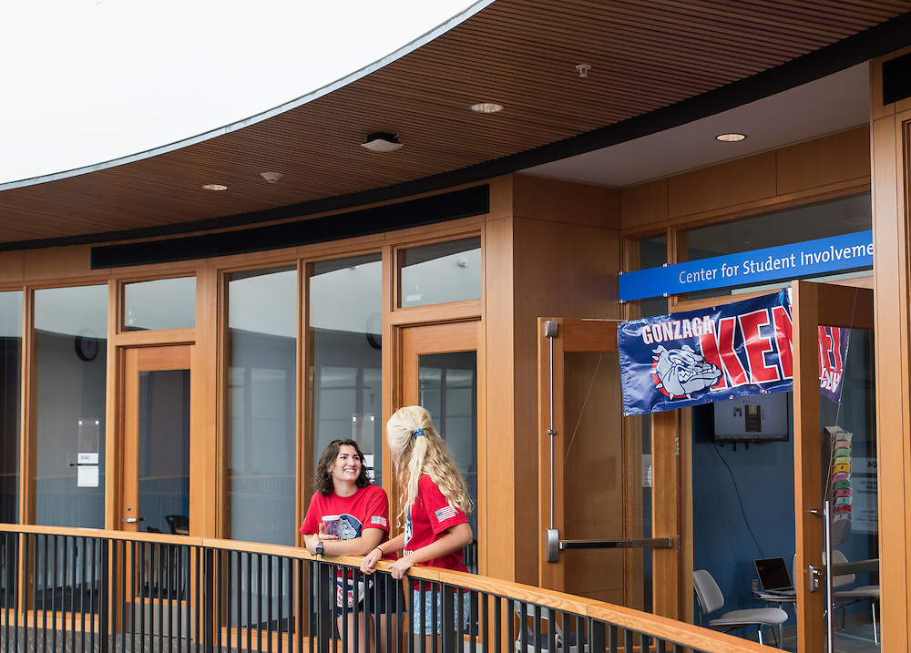The class of 2020 arrives on Gonzaga University's campus for the first time on August 26th, 2016. (Photo by Edward Bell)