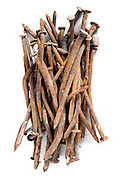 stack of old rusty nails