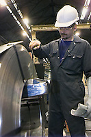 Measuring the roll, Corus Brinsworth Strip Mill.